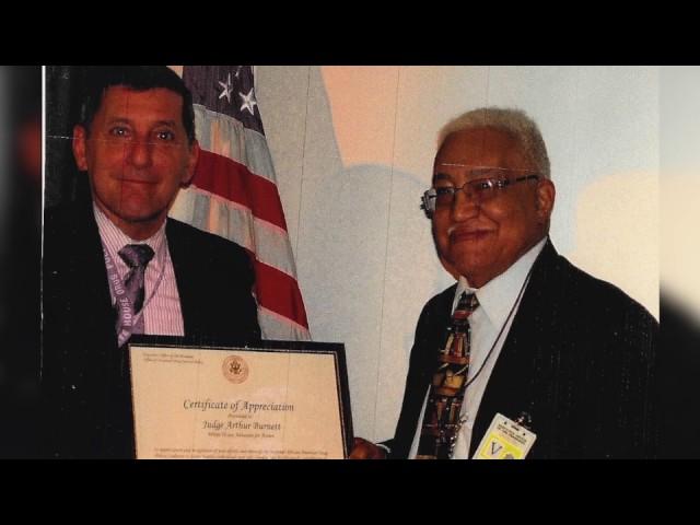 The Honorable Arthur Burnett Sr honored member of IAOTP