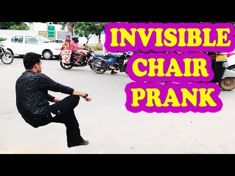 INVISIBLE CHAIR PRANK | अदृश्य कुर्सी | PRANKS IN INDIA | NatKhat Shady