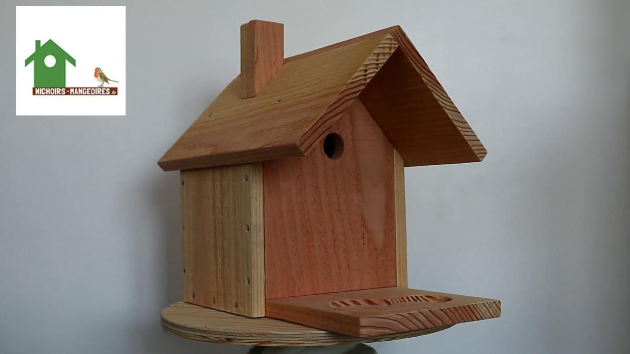 nichoir avec mangeoire pour oiseaux nichoirs oiseaux en bois fabrication fran aise artisanale. Black Bedroom Furniture Sets. Home Design Ideas