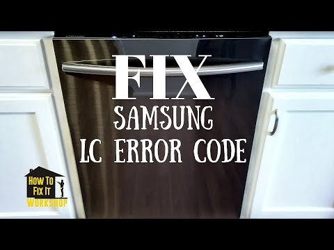How To Fix Samsung Dishwasher With Lc Error Code Youtube