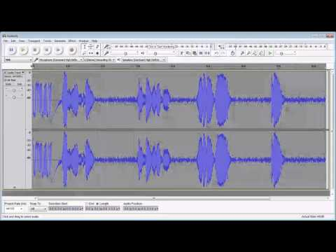 How to Clean Audio using Audacity 2.1.0 May 2015