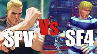 Cody SF4 vs SFV Gameplay comparison