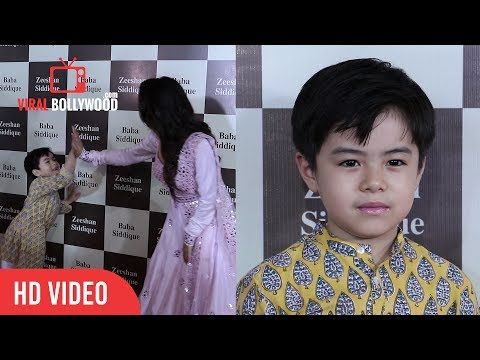 Cute Matin Rey Tangu At Baba Siddiqui's Iftar Party | Tubelight Little Boy