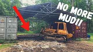 Why I filled my New Building with Concrete Rubble!! (Shipping Container Shop)