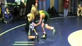 Kid Goes Beast Mode During Wrestling Match.