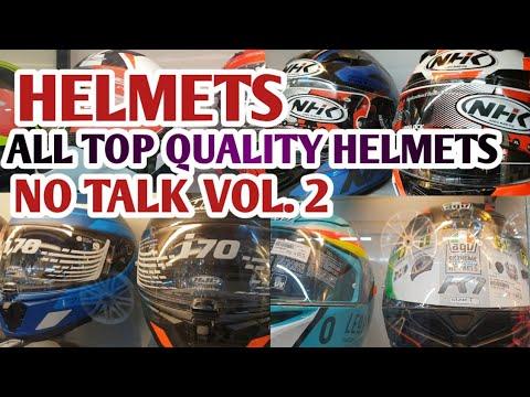 MOTORCYCLE HELMETS VOL. 2- NO TALK ALL HELMET BRANDS MODELS