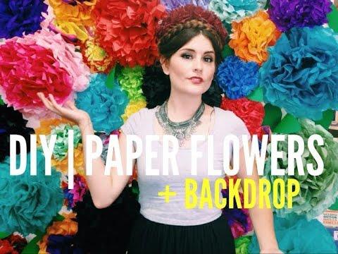 DIY | Paper Flowers + Flower Wall Backdrop