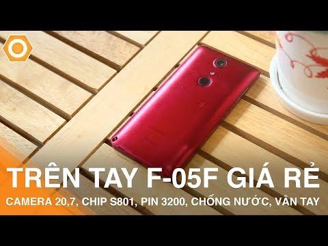 Trên tay Fujitsu F05F cực rẻ - Cam 20.7 Mpx, Chip S801, Pin 3200Ah, chống nước, vân tay