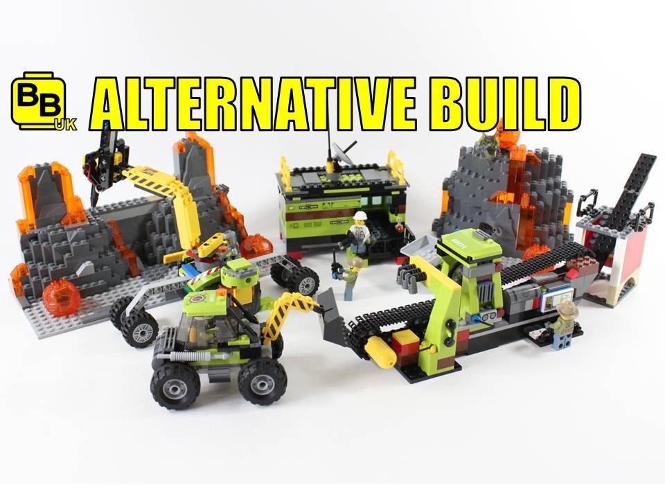 LEGO CITY VOLCANO 60124 ALTERNATIVE BUILD LAVA QUARRY - YouTube