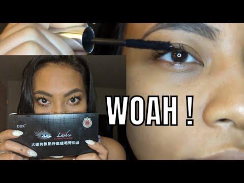 bf373571ddd Long Eyelashes Instantly ! Testing DDK 4D Silk Mascara - YouTube