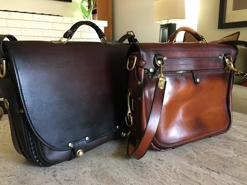 The Companion Messenger Bag by The Leather Shop of Seattle WA.