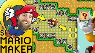 Ryu Learns to Fly (Backwards!) | Advanced Flying Levels [#01] [SUPER MARIO MAKER]