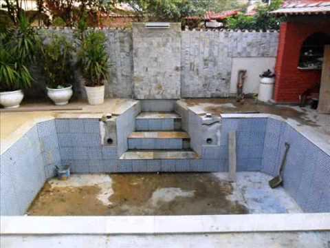 Reforma de piscina de azulejo youtube - Azulejos para piscina ...