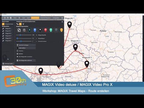 MAGIX Travel Maps - Übersicht & Route erstellen