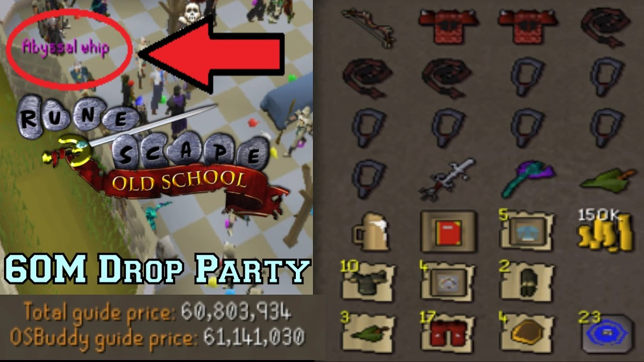 60m Drop Party! | Paying It Forward #1 | Oldschool Runescape - 2007 ...