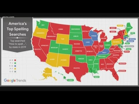 Google Trends map reveals the words each state can't spell