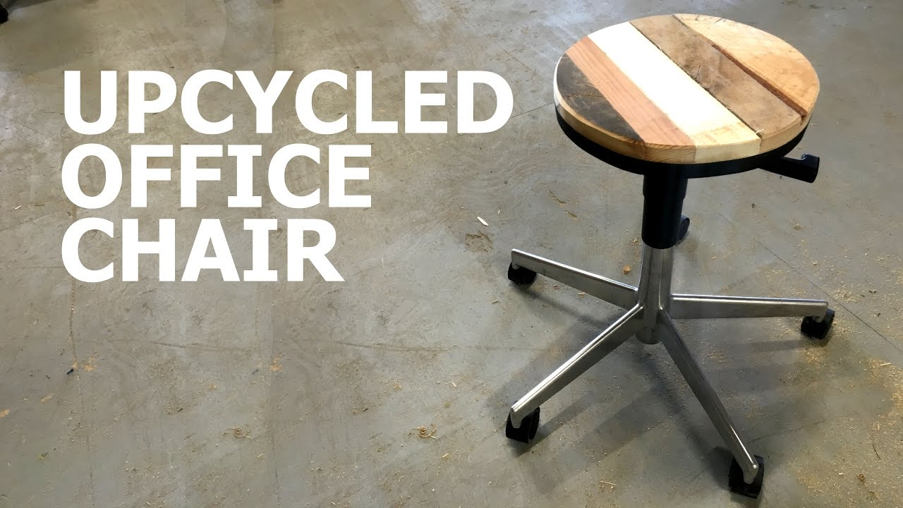 How to upcycle an office chair with pallet wood - YouTube