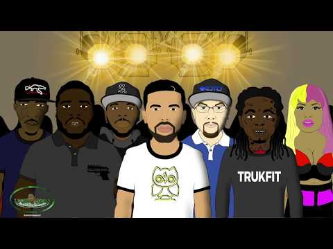 Eminem vs Drake - Rap Battle (LT Animated Cartoon)