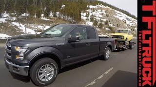 2015 Ford F-150 2.7L EcoBoost takes on the Grueling IKE Gauntlet Towing Test Review
