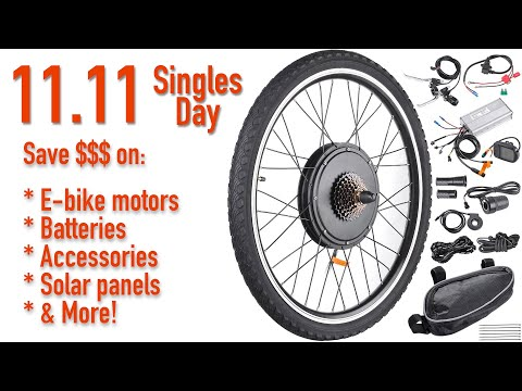 How To Save Big Money On E-bike Batteries, Kits And More On 11.11!