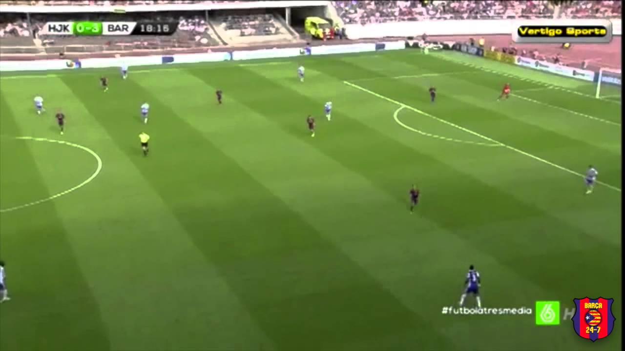 Download Munir El Haddadi defensive work vs HJK Helsinki
