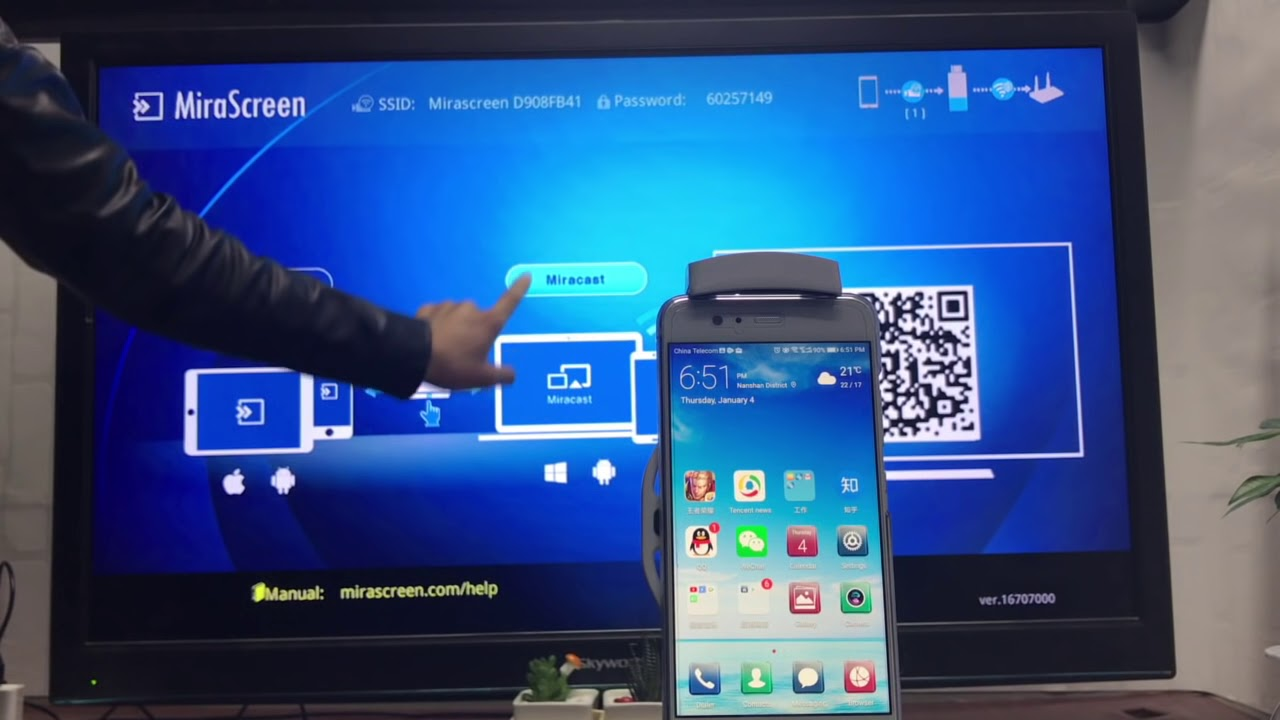 New MiraScreen Android setup and mirroring