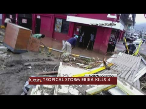 Tropical Storm Erika lashes Puerto Rico