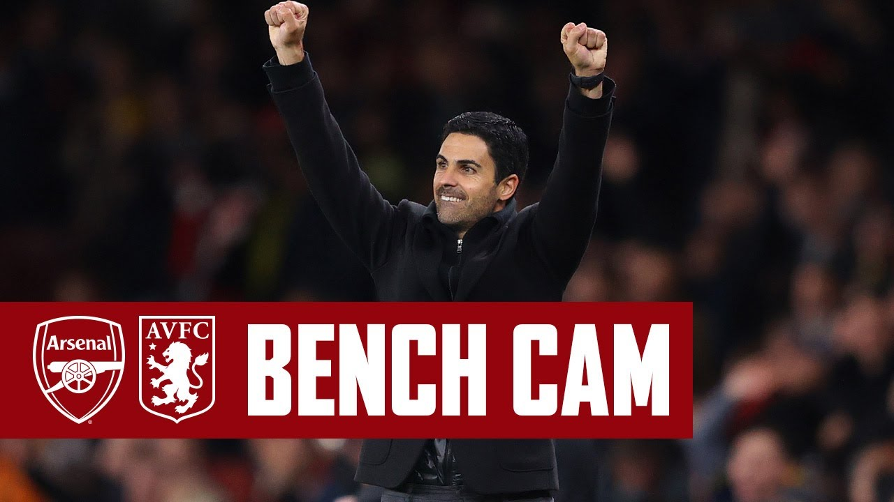 BENCH CAM  Arsenal vs Aston Villa 31  Goals reactions celebrations VAR u0026 more