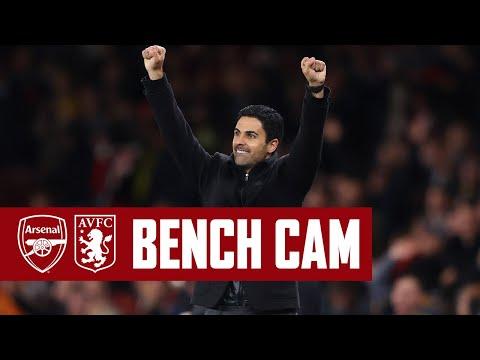 BENCH CAM | Arsenal vs Aston Villa (3-1) | Goals, reactions, celebrations, VAR & more