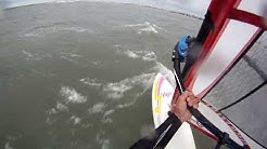 Racing the Pig - Windsurfing Huguenot in Jacksonville, Florida