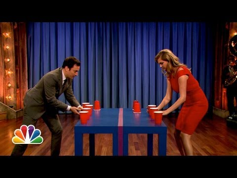 Kate Upton Is a Flip Cup Pro Late Night with Jimmy Fallon