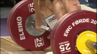 2016 European Weightlifting 69 Kg