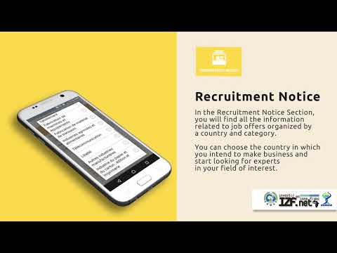 How to use the IZF.net App - Recruitment Notice