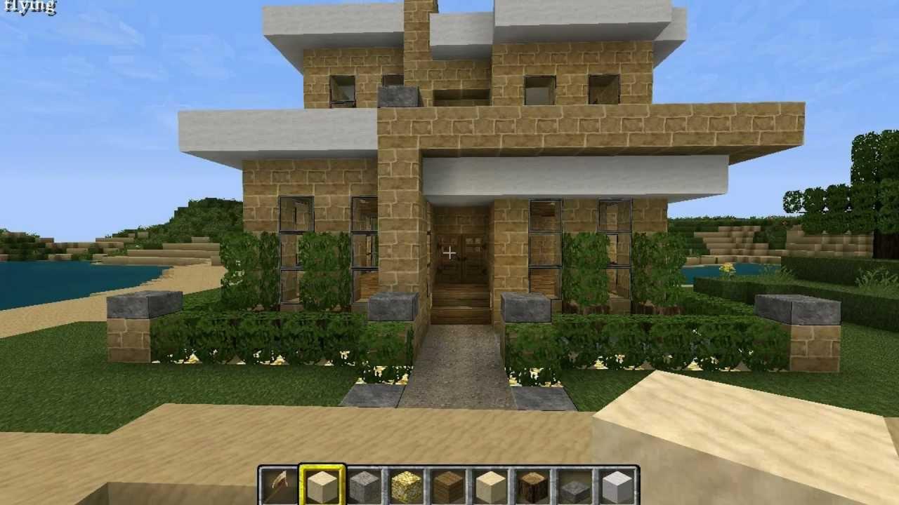 Modern house minecraft 16x16 plot youtube for Modern house video