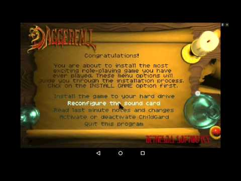Daggerfall On Android. Installation Guide Using Magic Dosbox