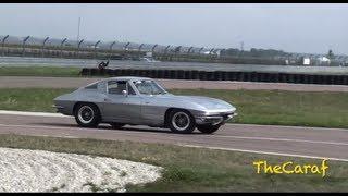 RIDE on track! Corvette C2 Sting Ray Split Window!