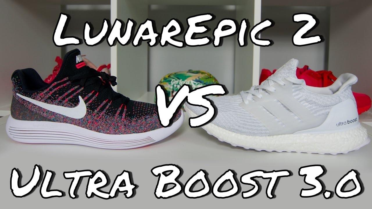 Nike lunarepic basso flyknit 2 vs adidas ultra spinta su youtube
