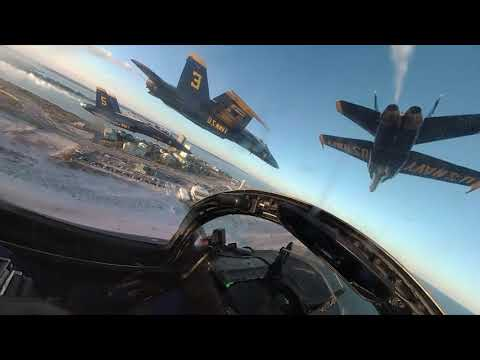 Blue Angels Legacy Hornet sundown flight