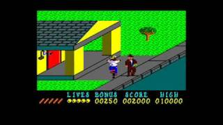[AMSTRAD CPC] Paperboy - Gameplay Run-through (Part 1 of 2)