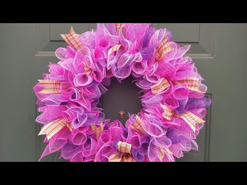 Spring Deco Mesh Wreath | Dollar Tree DIY