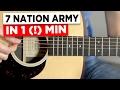 Gitarre lernen für Anfänger - 7 Nation Army - sehr einfach!!