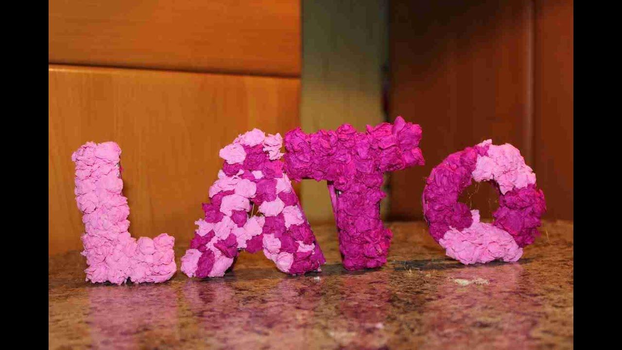 Jak zrobić letnią ozdobę pokoju: wiszący napis LATO