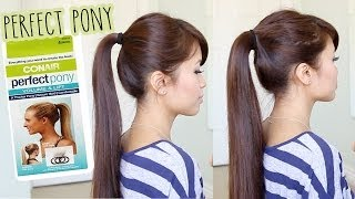 First Impression: Conair Perfect Pony Tool Demo & Review - How to Get a Thicker Ponytail Thumbnail