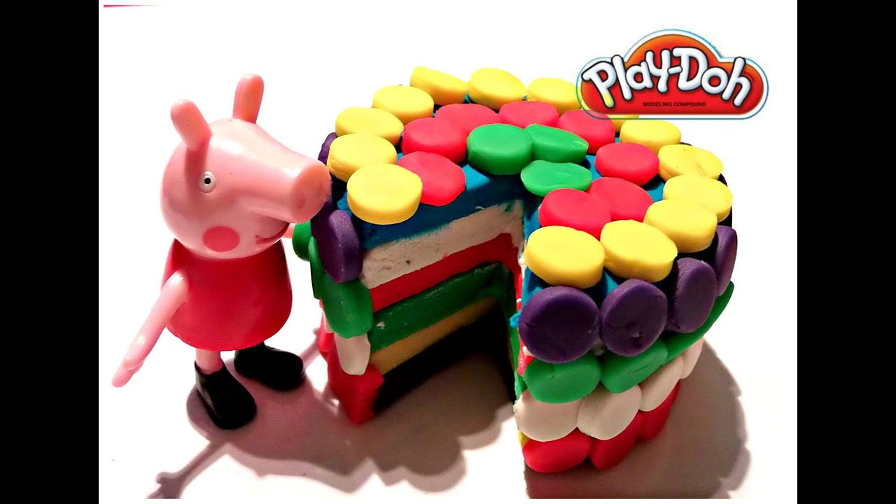 Play Doh Rainbow Dash Cake and Birthday Cake Party by BIG BROTHER