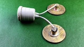 New Electric Free Energy 100% Generator With Light Bulb Using DC Motor Self Running Project 2019