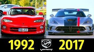 Dodge Viper - Эволюция (1992 - 2017) !  История Гадюки !