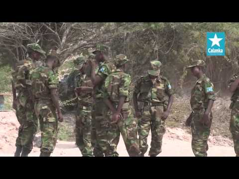 Somali Army training in Halane