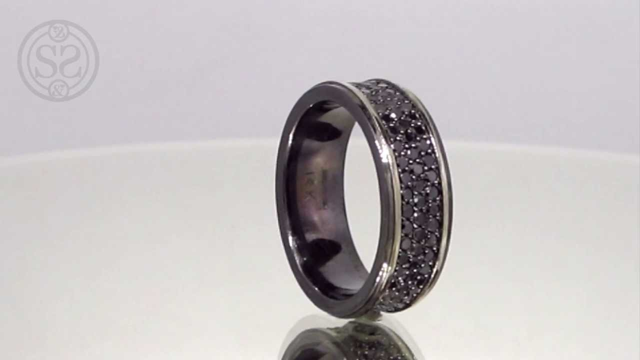 Custom Black Diamond Men S Wedding Band Youtube