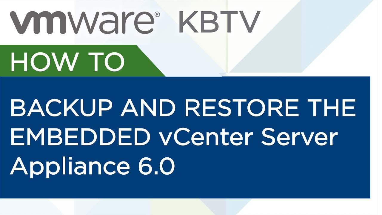 5 useful tips to work with VMware vCenter Server Appliance 6 5