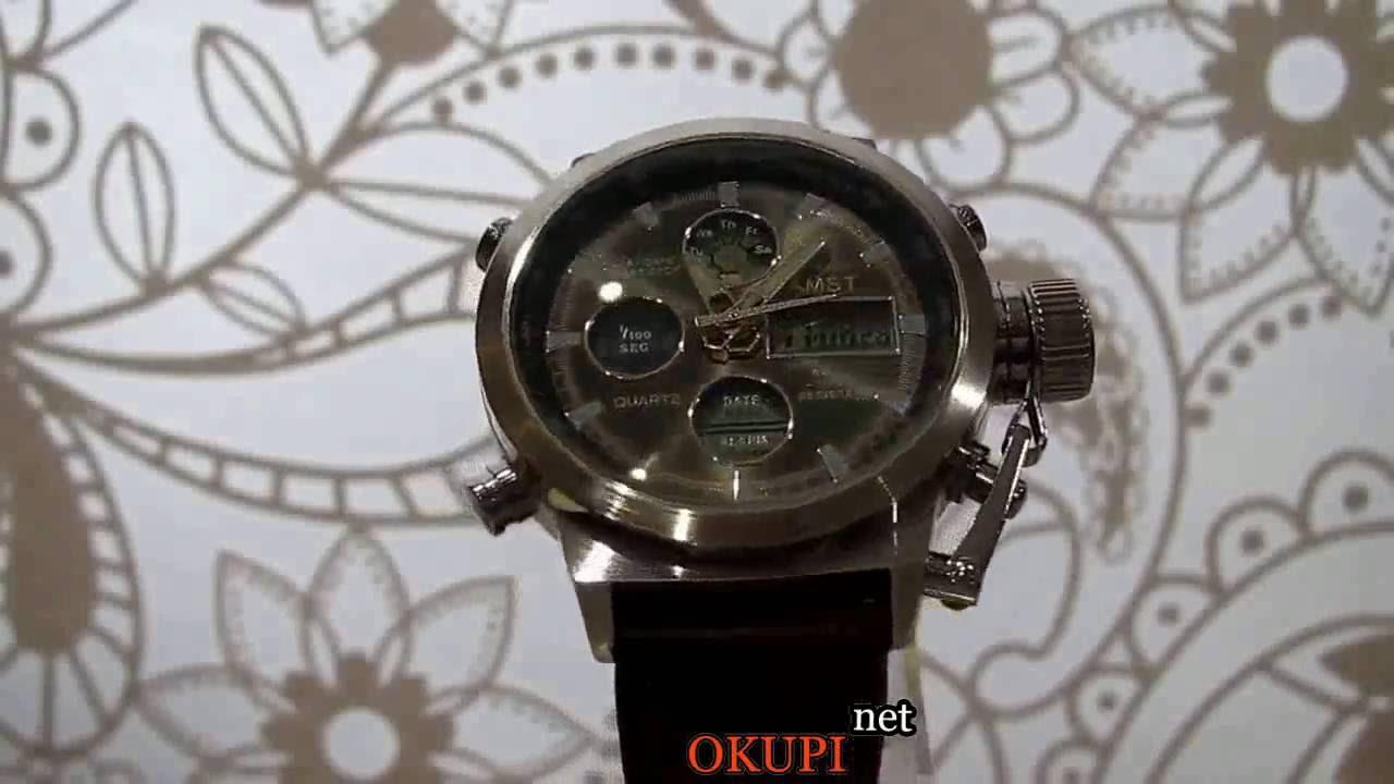 Военные часы Shark Army saw015 - YouTube